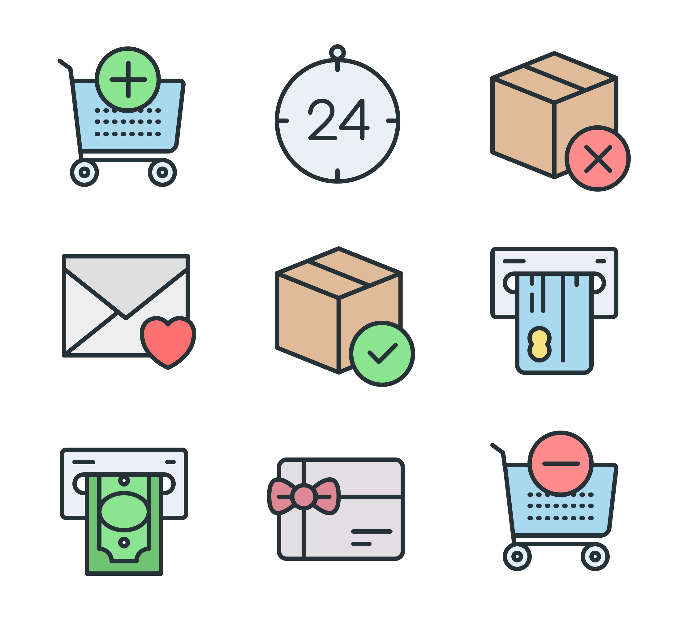 Cart-related icons