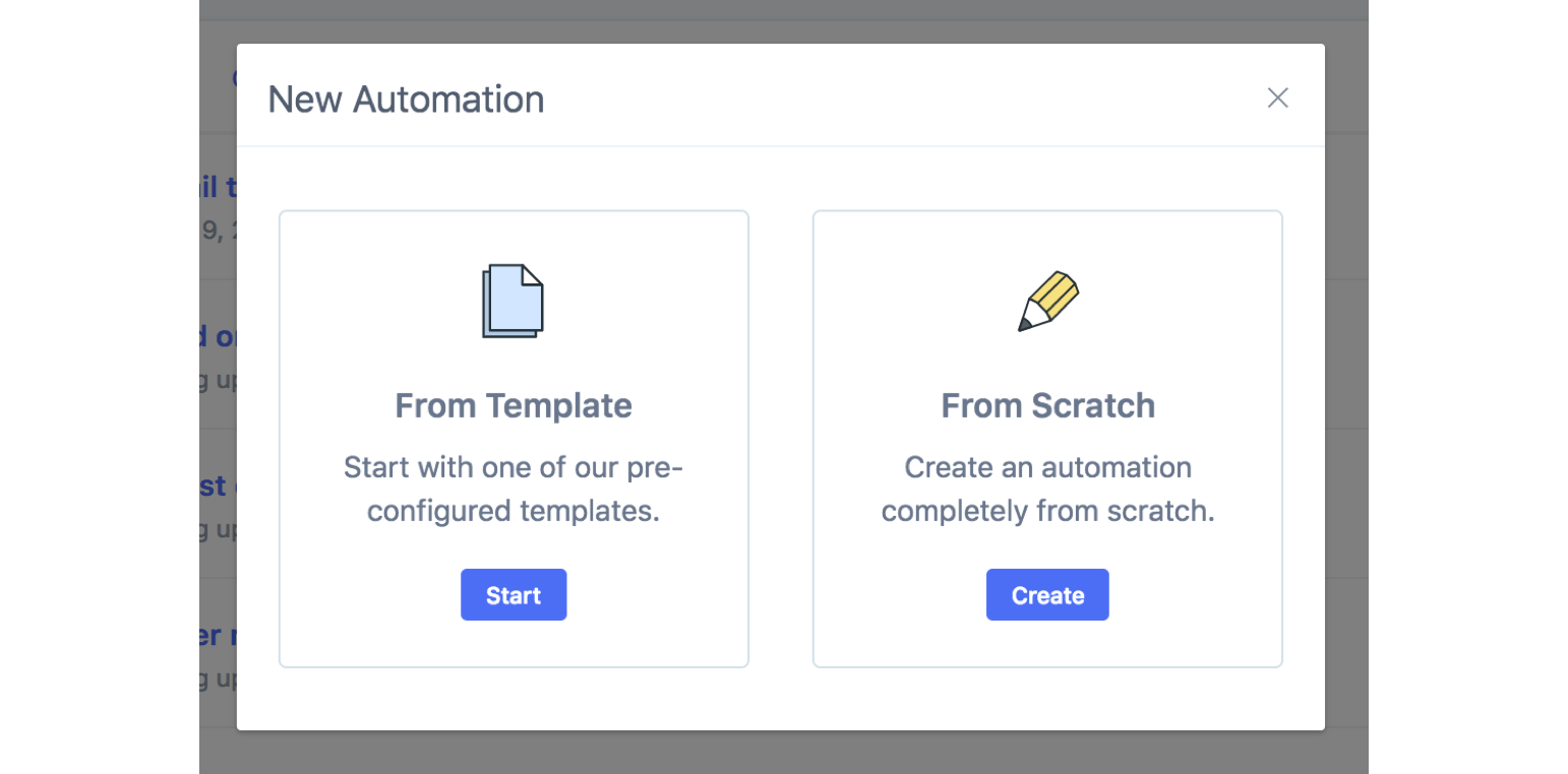 Create an Engage automation from a template or from scratch